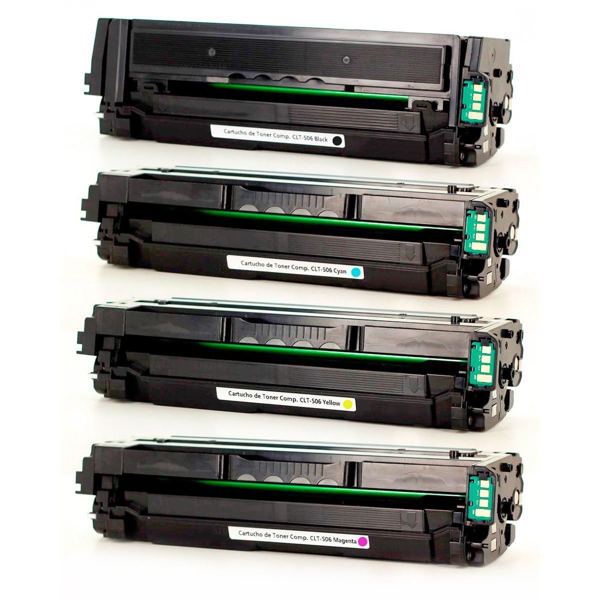 Compatível: Kit Colorido de Toner CLT506 506L para Samsung CLP-680 CLX-6260 CLP-680nd CLX-6260fr CLP680 CLX6260 CLP680nd