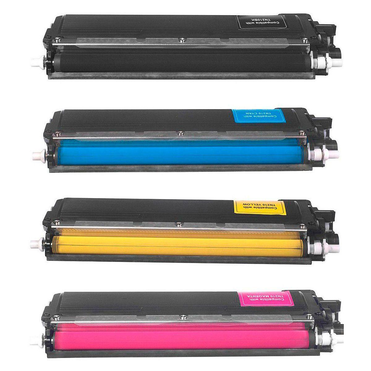 Compatível: Kit Colorido de Toner TN210 para Brother HL-3040cn HL-3070cn HL-3045cn MFC-9120cn 9320cw 9010cn 8370cn