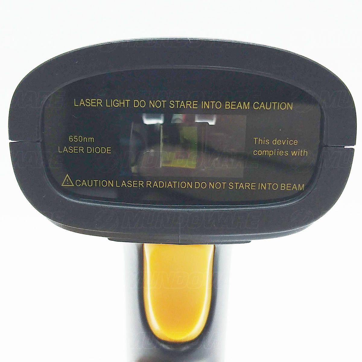 Leitor de Código de Barras Sem Fio Wireless 2.4Ghz com Bateria 1200mAh Exbom LCB-S600