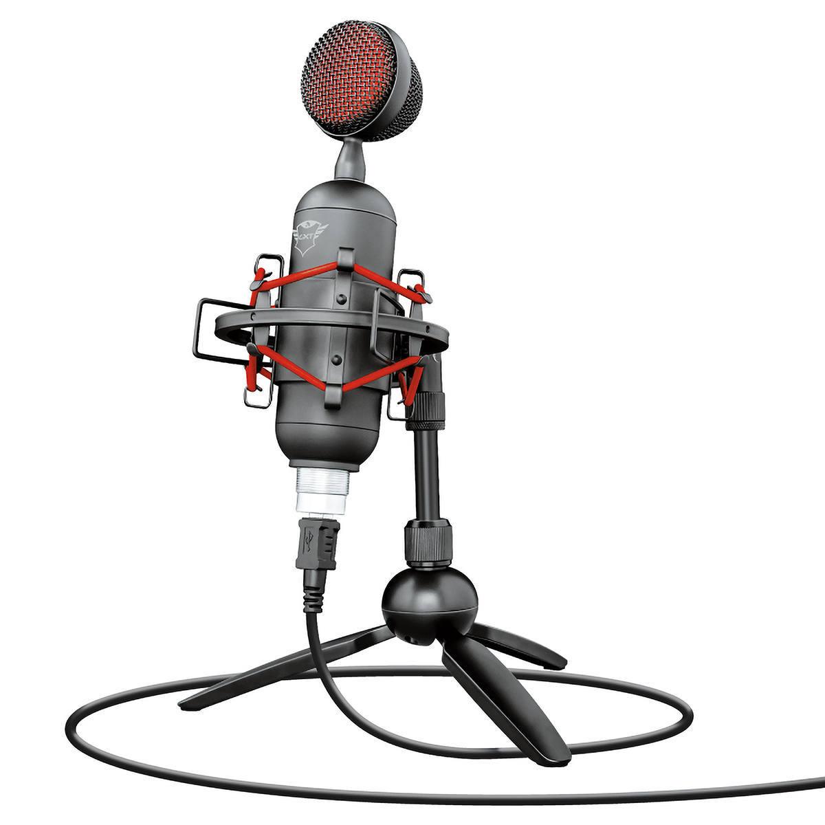 Microfone para Streaming USB Digital Gravação Cardioide de Alta Precisão Tripé de Metal GXT 244 Buzz Trust