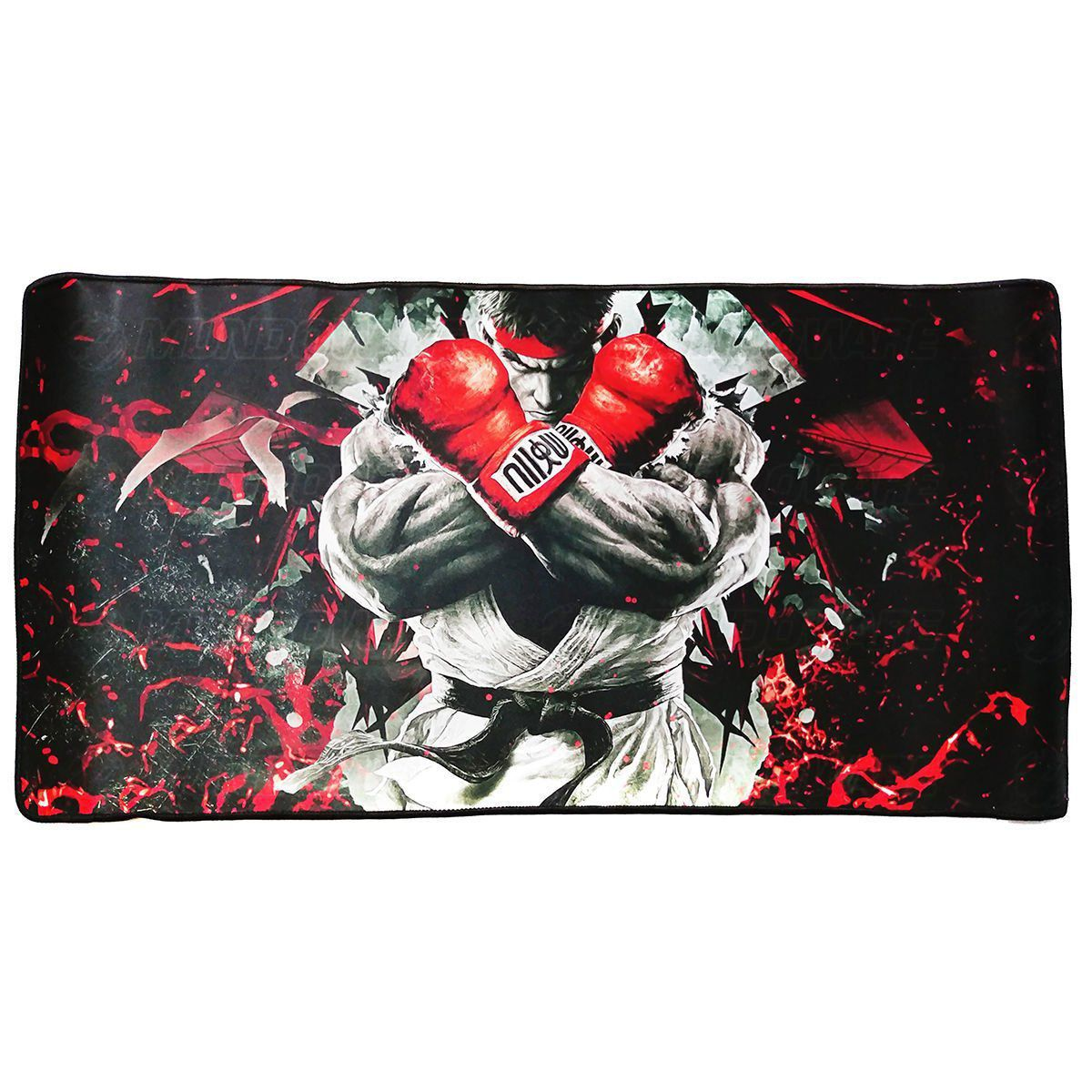 Mouse Pad Extra Grande Gamer 700x350x3mm Bordas Costuradas Base Antiderrapante Boxeador Exbom MP-7035C