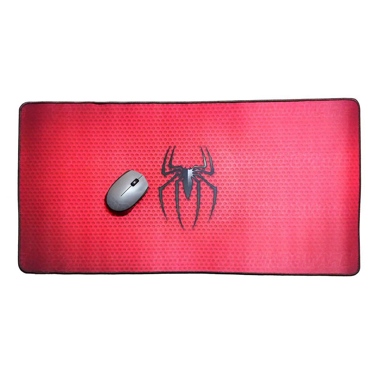 Mouse Pad Gamer Extra Grande 700x350x3mm Bordas Costuradas Base Antiderrapante Spider Exbom MP-7035C