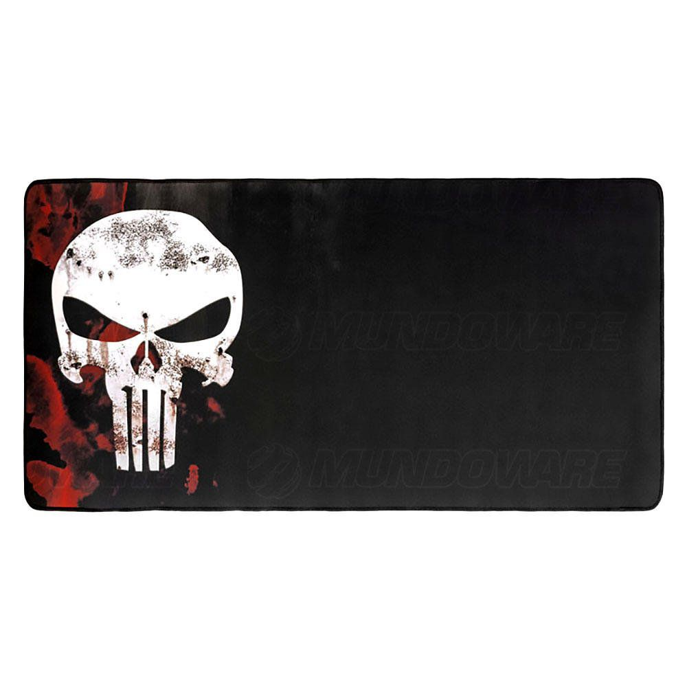 Mouse Pad Gamer Extra Grande 700x350x3mm com Bordas Costuradas e Base Antiderrapante Modelo Justiceiro Exbom MP-7035C