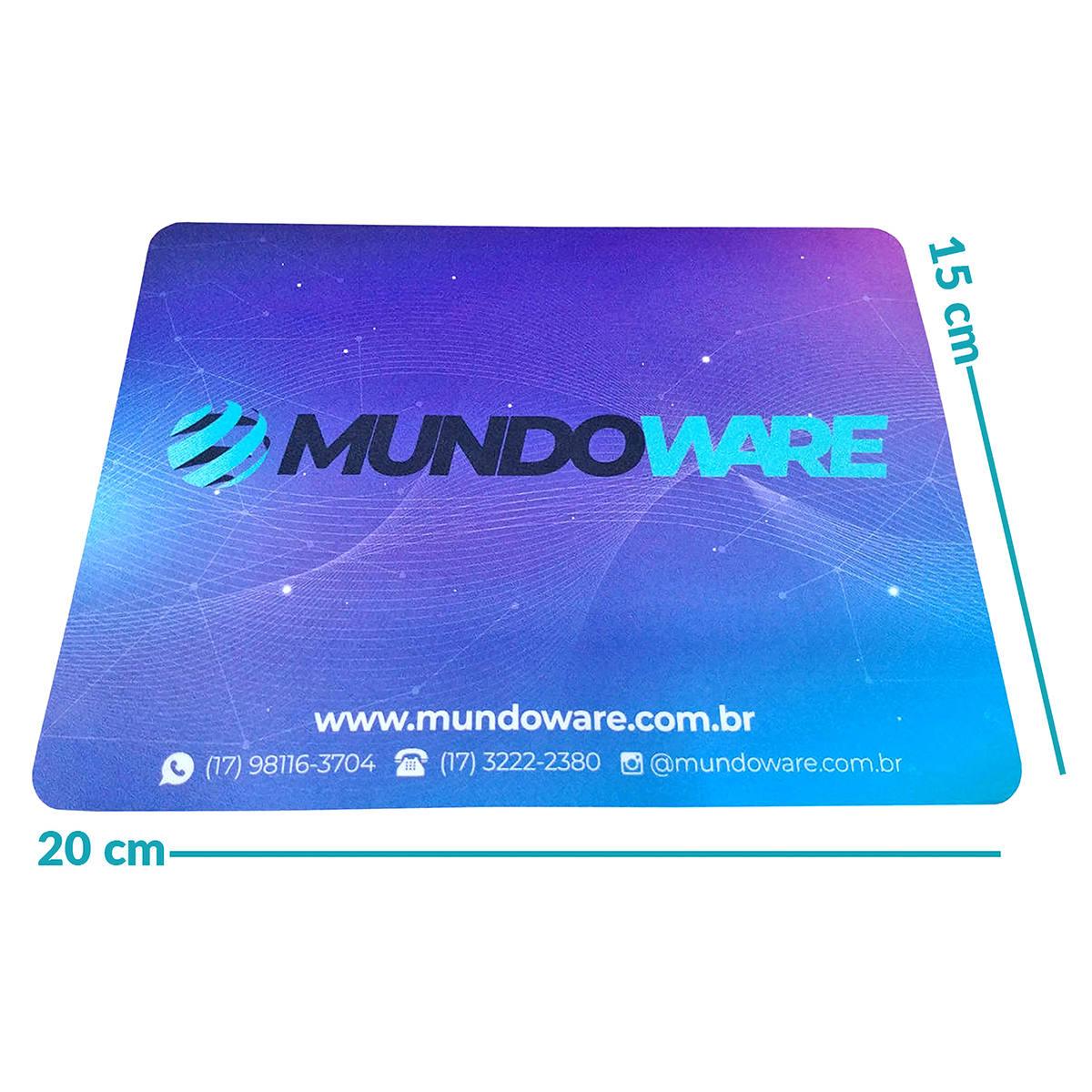 Mouse Pad Mundoware 15x20cm Compacto Base Antiderrapante