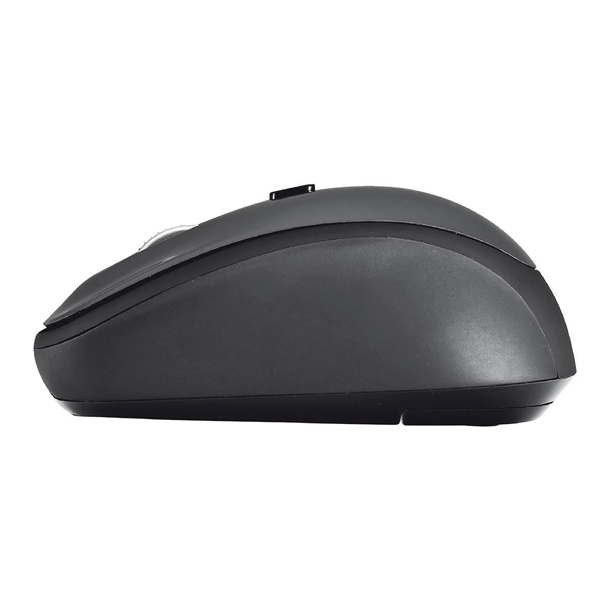 Mouse Wireless Compacto com Botão Seletor de DPI Micro Receptor USB Acompanha Pilha Trust Yvi Cinza