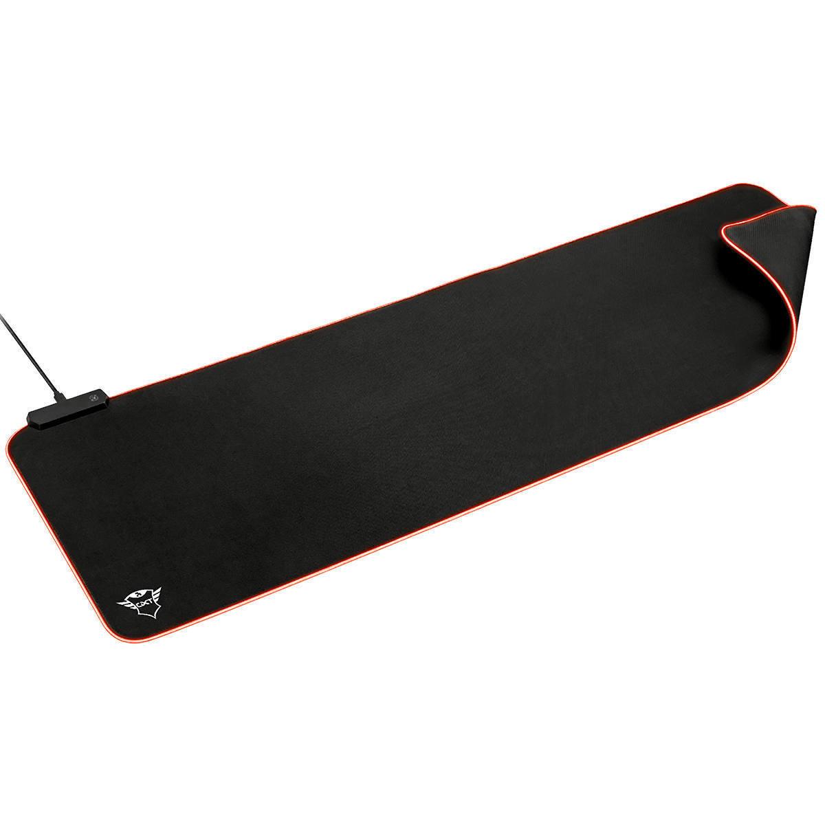 Mouse Pad Gamer XXL 930 x 300 x 3 mm com Iluminação RGB e Textura otimizada GXT 764 Glide Flex RGB Mouse Pad Preto
