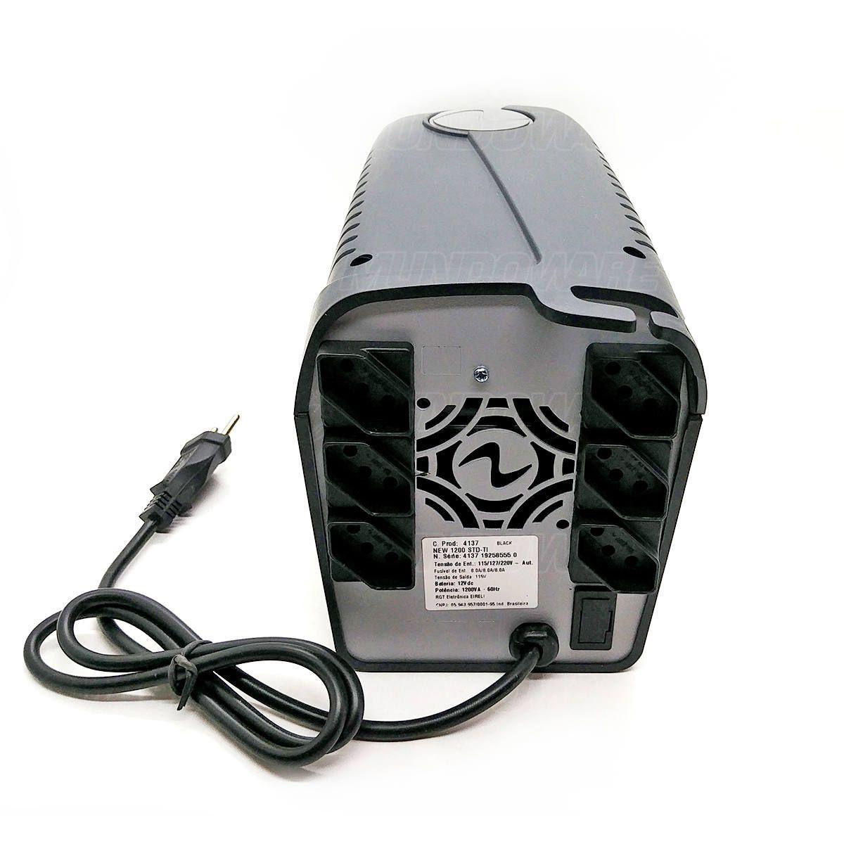 Nobreak 1200VA 600W PWM 6 Tomadas 3 em 1 Troca Fácil de Bateria Trivolt Ragtech Easy Way 1200 STD-TI BL 4137