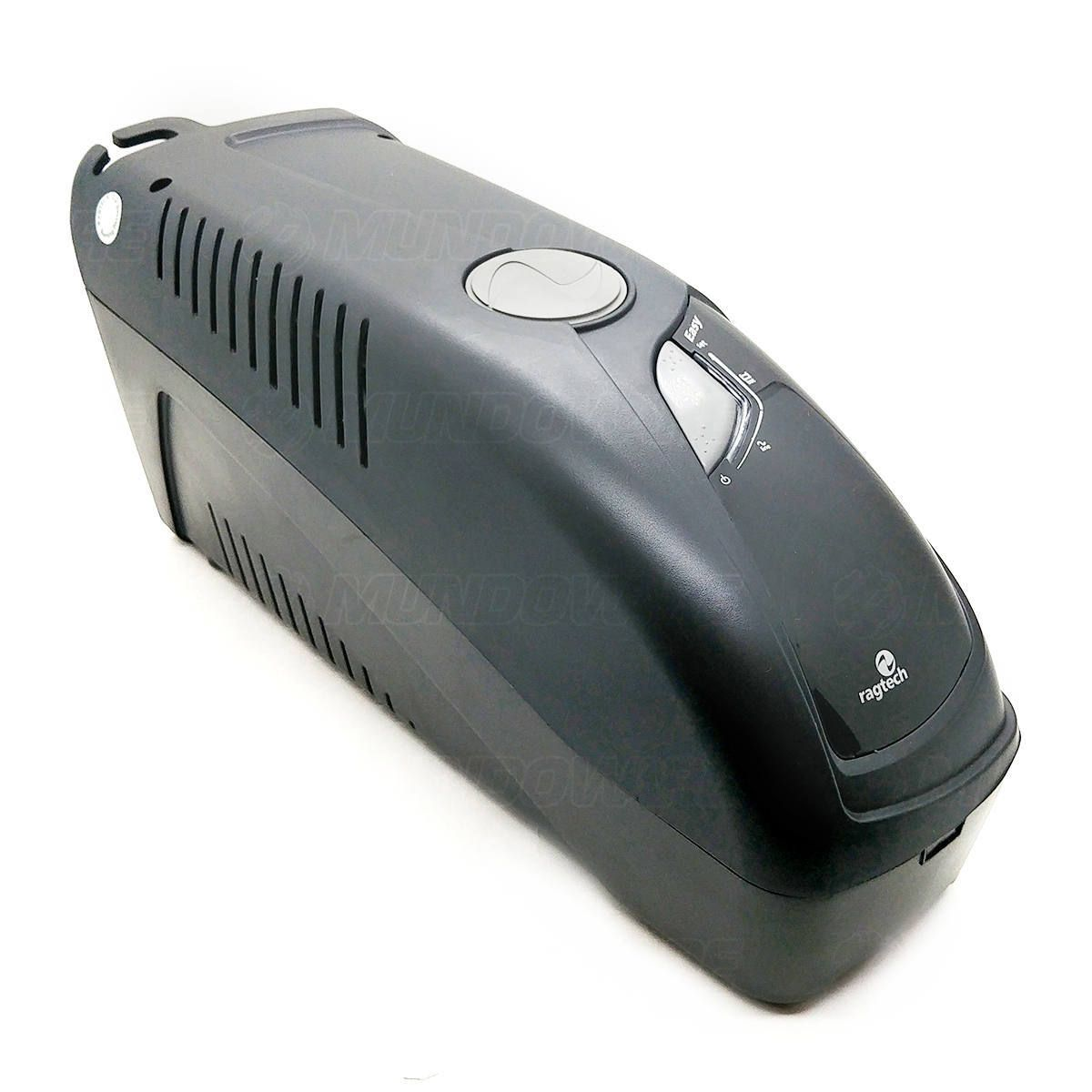 Nobreak 1400VA 980W 6 Tomadas 3 em 1 Engate para Bateria Externa Trivolt PWM Troca Fácil Ragtech GT CBU-TI 4154