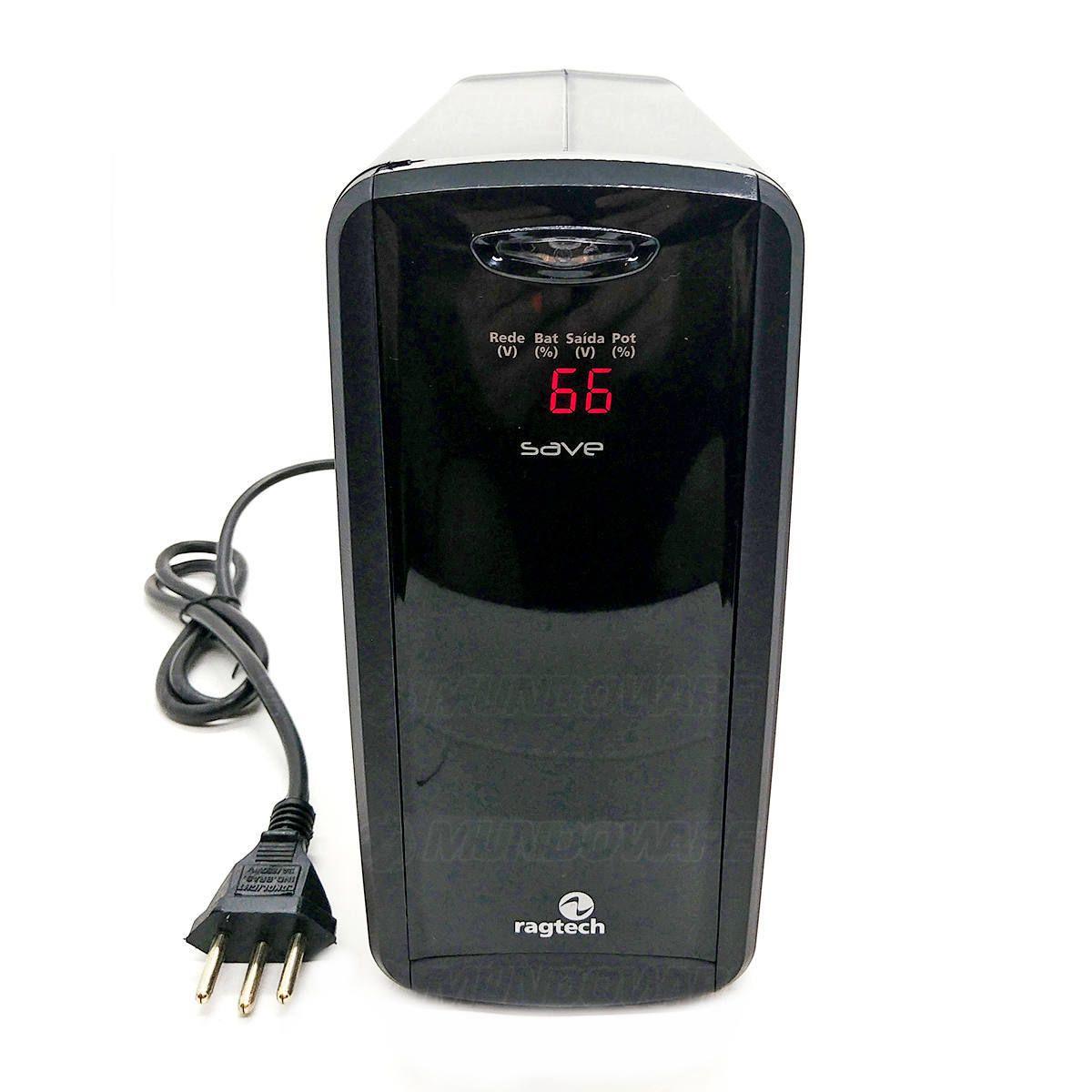 Nobreak 600VA 300W Display Digital 6 Tomadas 3 em 1 Troca Fácil de Bateria Trivolt PWM Ragtech Save Home DIG/STD-TI 4129