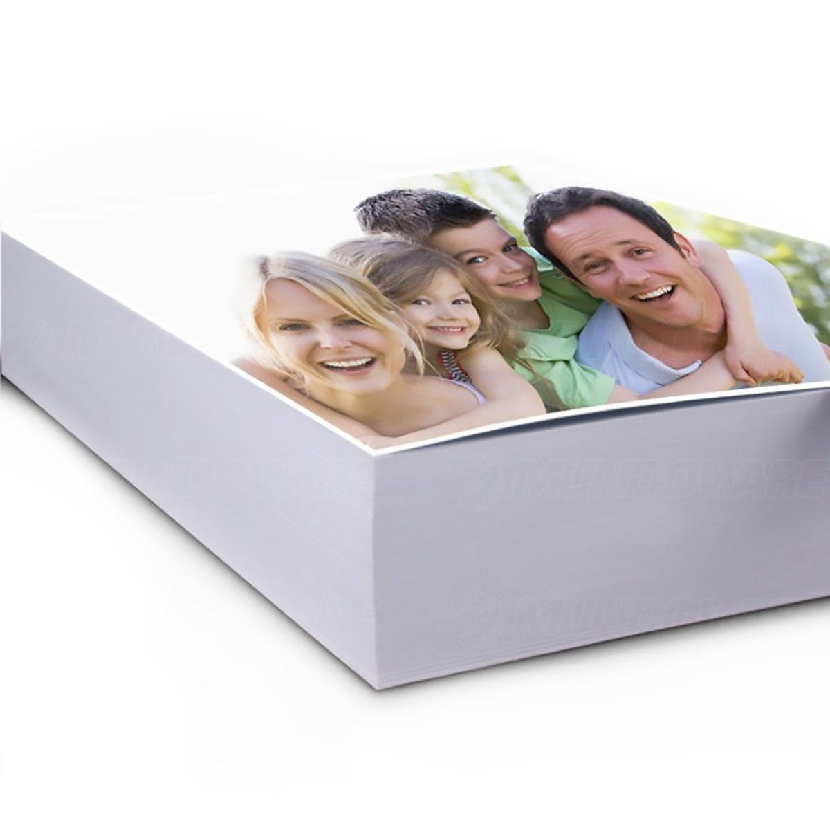 Papel Adesivo Fotográfico 115g A4 Branco Brilhante Resistente à Água / 1000 folhas