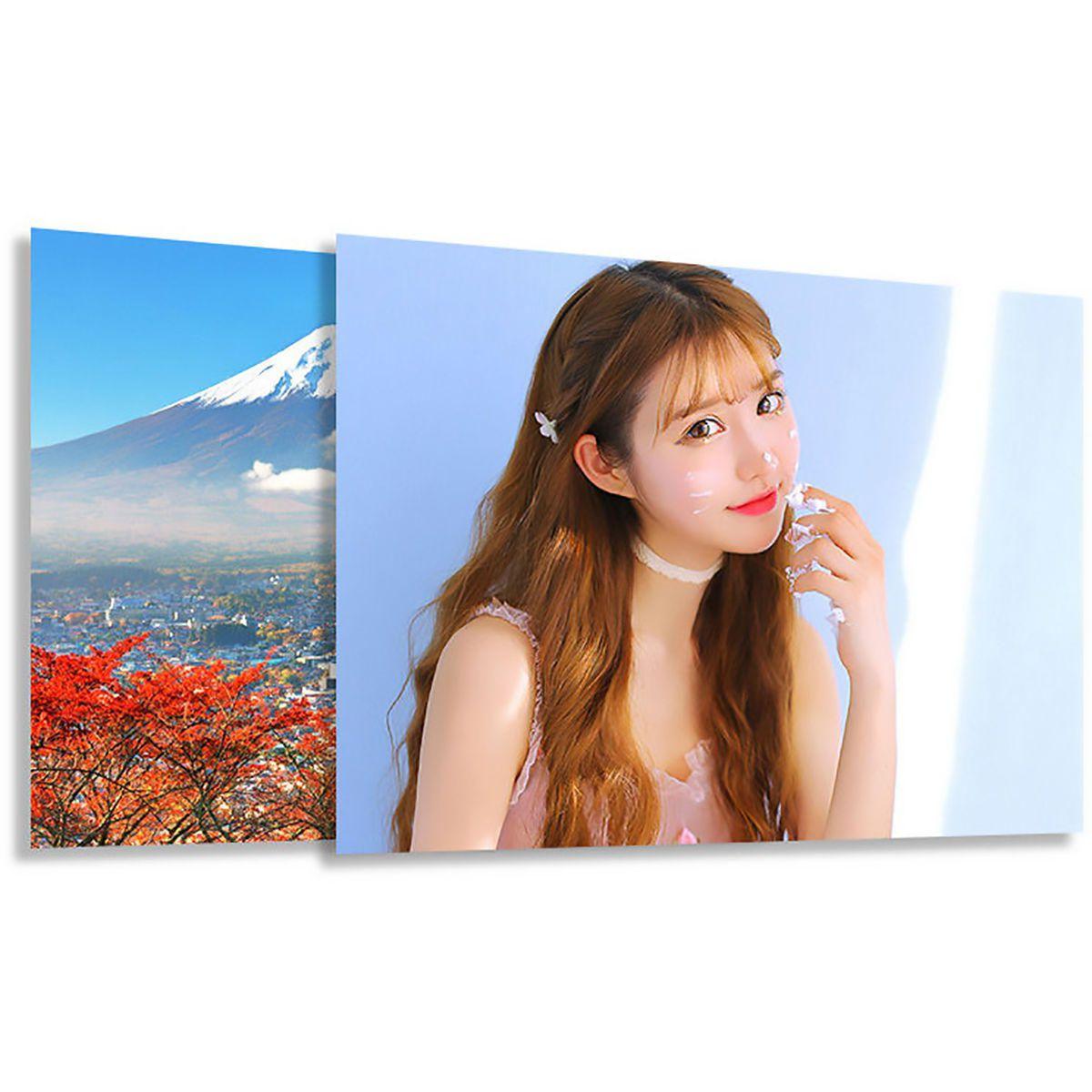 Papel Adesivo Fotográfico A3 297mm x 420mm Glossy 130g Branco Brilhante / 100 Folhas