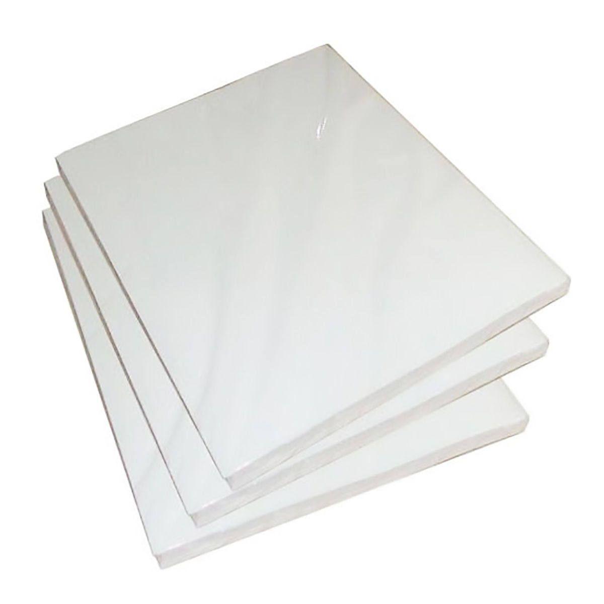 Papel Dupla Face Fotográfico 120g A4 Glossy Branco Brilhante Resistente à Água / 200 Folhas
