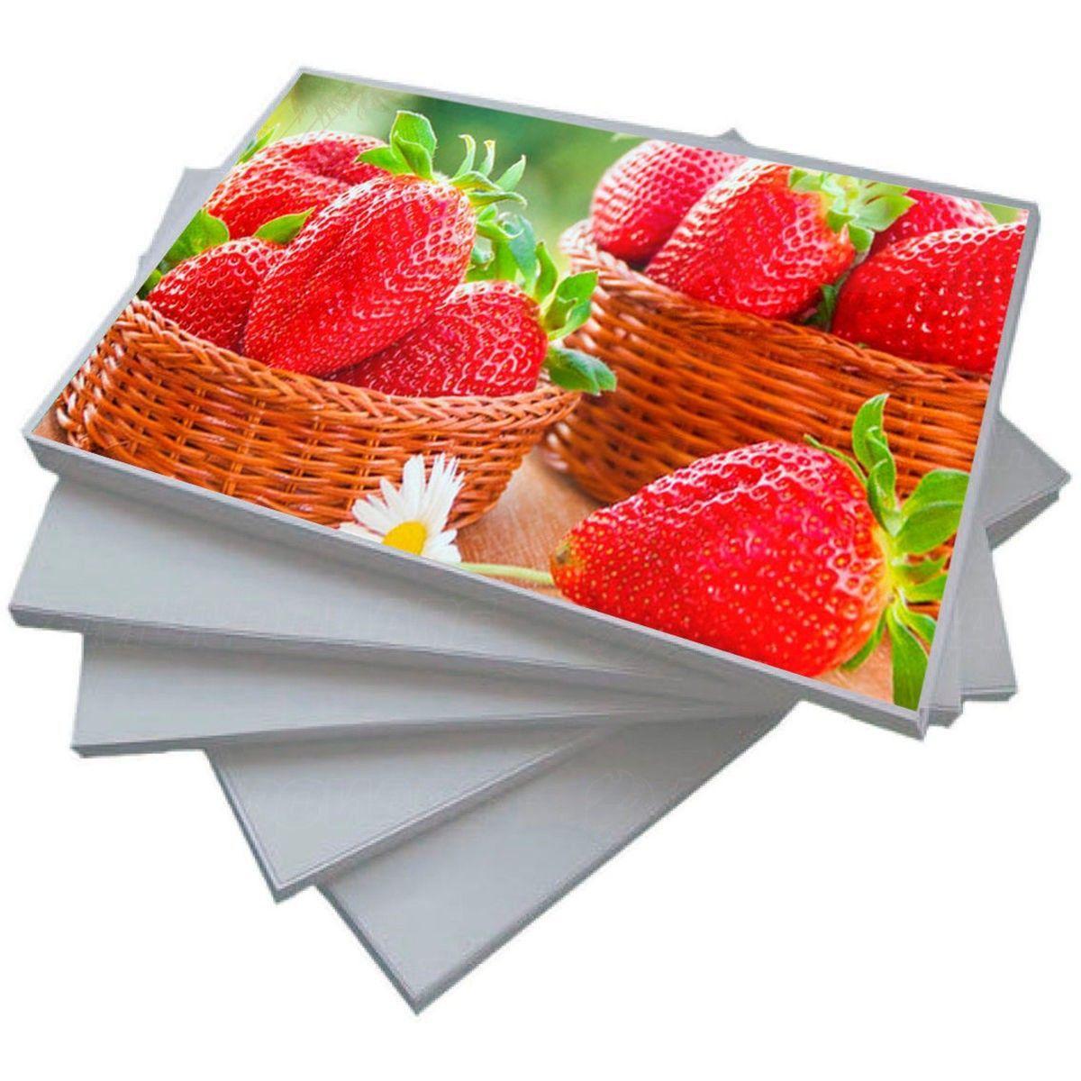 Papel Foto Adesivo 115g A4 Glossy Branco Brilhante Resistente à Água / 100 folhas