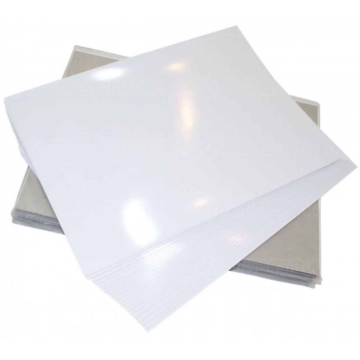 Papel Foto Adesivo 115g A4 Glossy Branco Brilhante Resistente à Água / 200 folhas