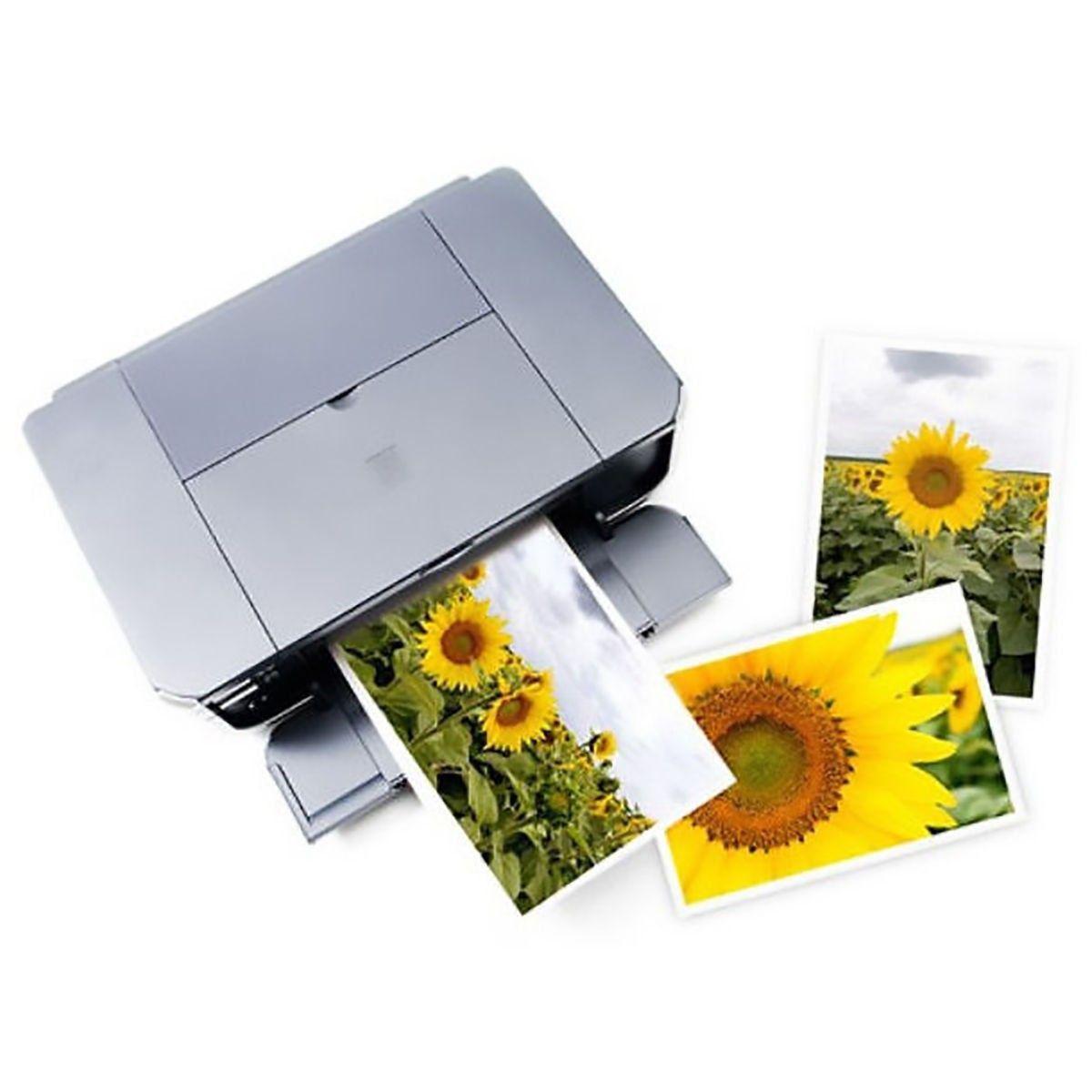 Papel Fotográfico 10x15 cm 265g Glossy Branco Brilhante Resistente à Água / 20 folhas