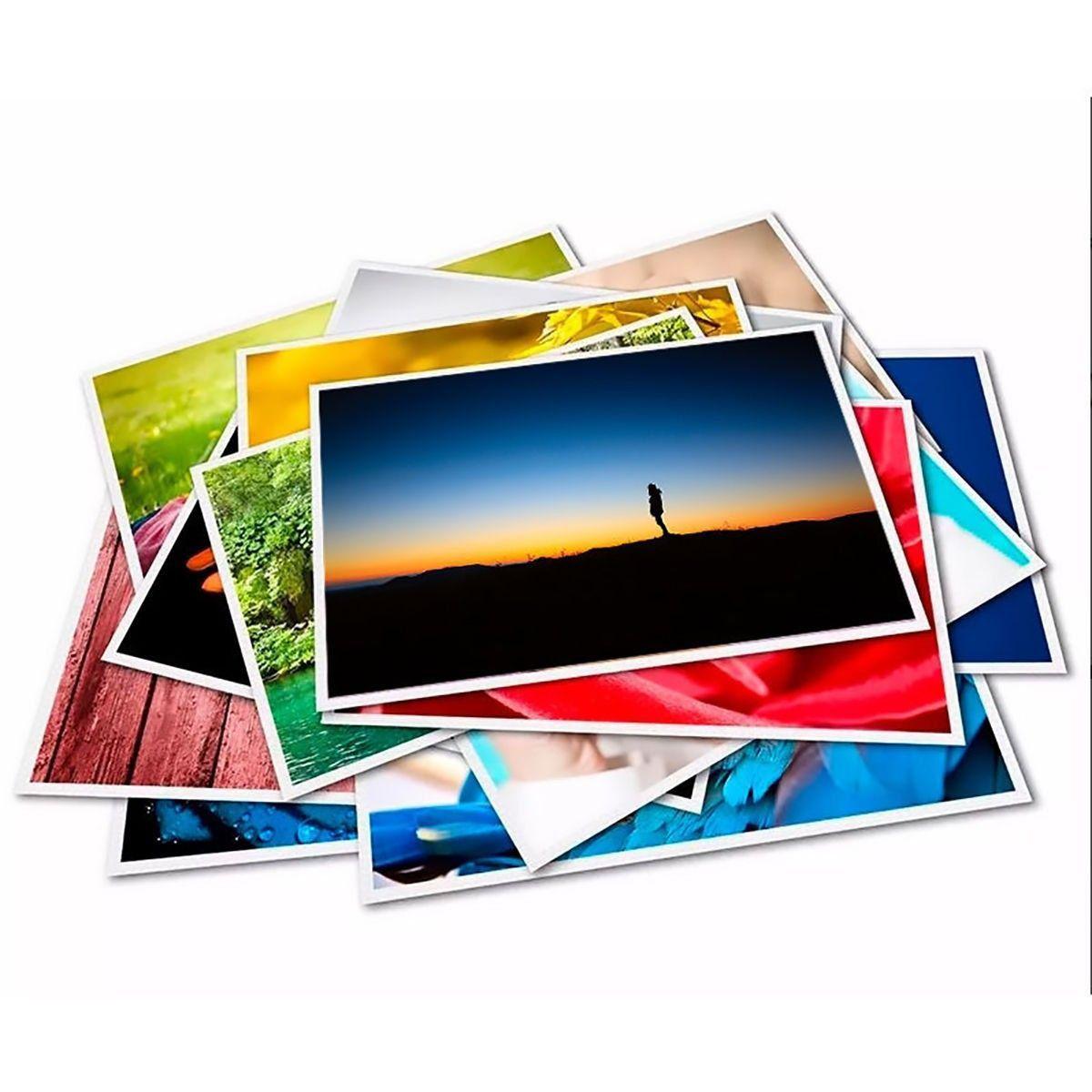 Papel Fotográfico 10x15 cm 265g Glossy Branco Brilhante Resistente à Água / 300 folhas