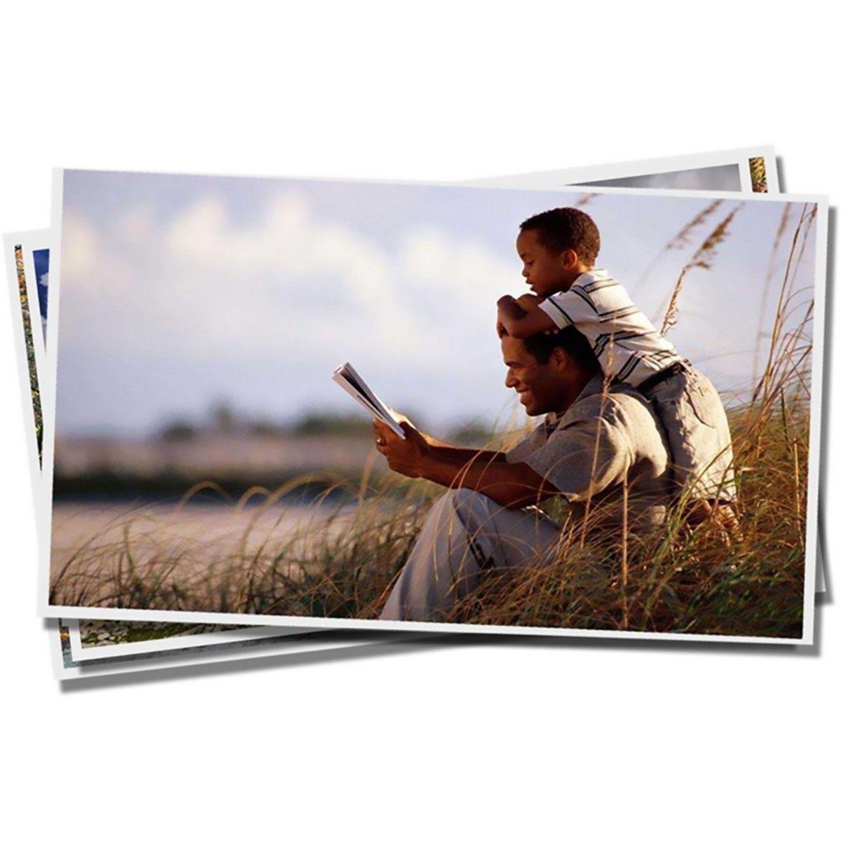 Papel Fotográfico A4 135g Glossy Branco Brilhante Resistente à Água / 300 folhas