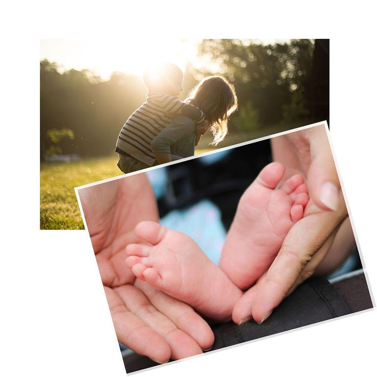 Papel Fotográfico A4 150g Glossy Branco Brilhante Resistente à Água / 1000 folhas