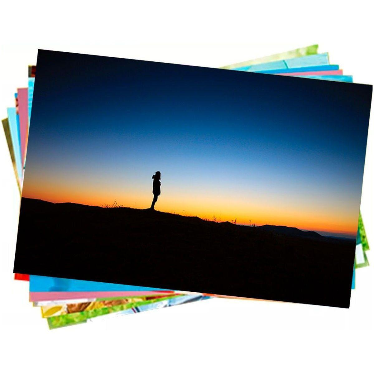 Papel Fotográfico A4 150g Glossy Branco Brilhante Resistente à Água / 400 folhas