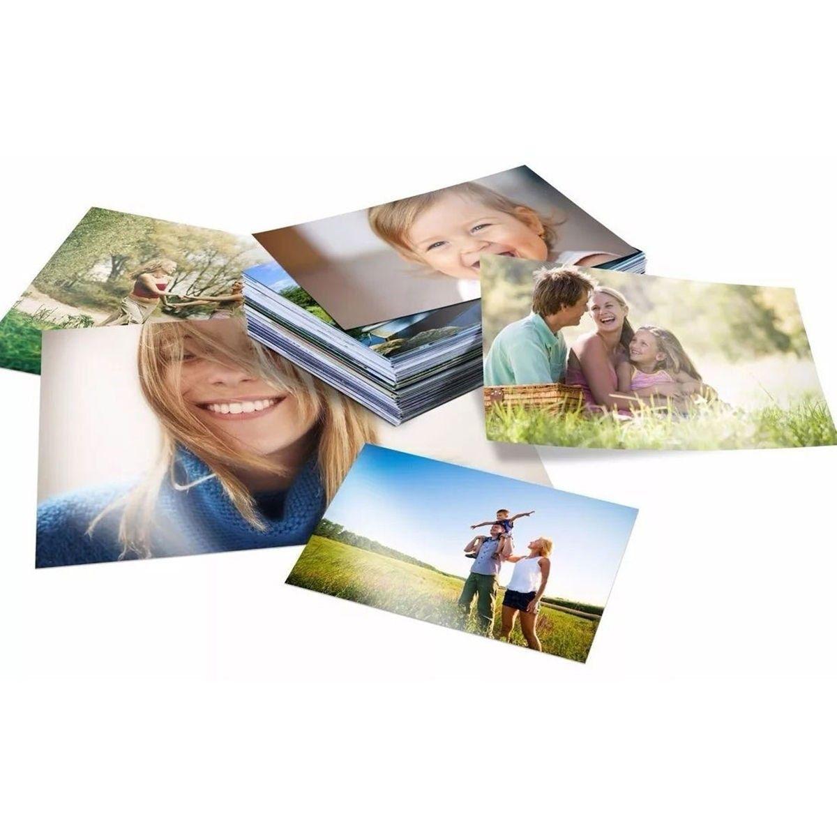 Papel Fotográfico A4 180g Glossy Branco Brilhante Resistente à Água / 100 folhas