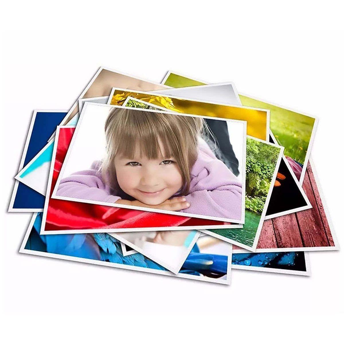 Papel Fotográfico A4 180g Glossy Branco Brilhante Resistente à Água / 300 folhas