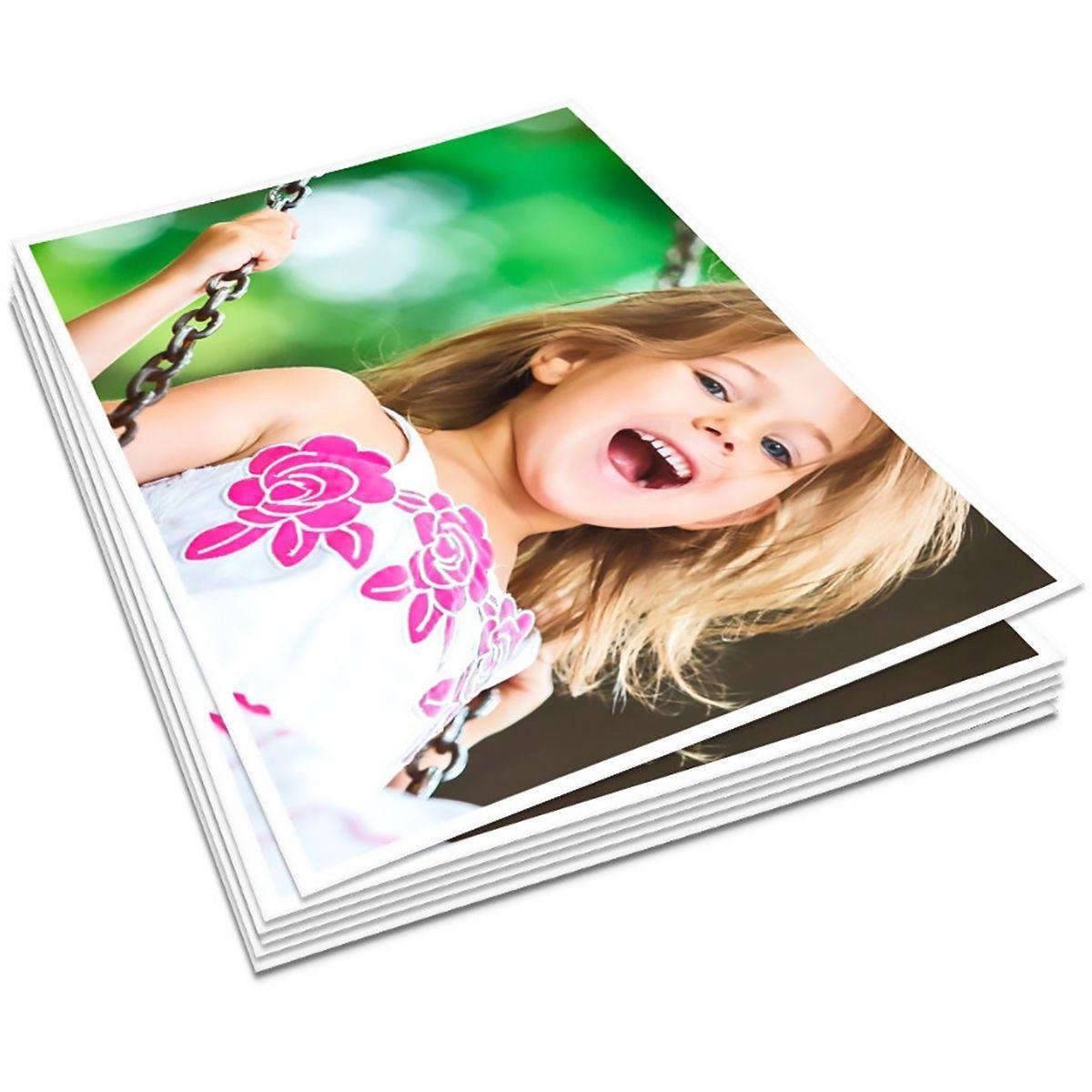 Papel Fotográfico A4 Dupla Face 180g Glossy Branco Brilhante Resistente à Água / 200 folhas