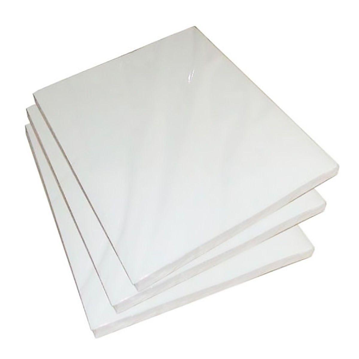Papel Fotográfico A4 Dupla Face 220g Glossy Branco Brilhante Resistente à Água / 20 folhas