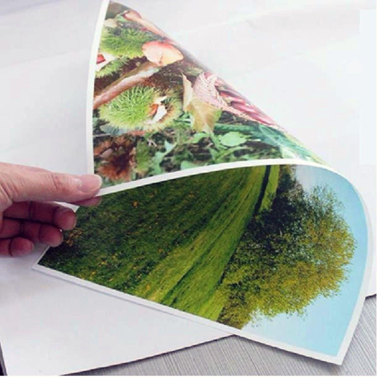 Papel Fotográfico A4 Dupla Face 220g Glossy Branco Brilhante Resistente à Água / 100 folhas