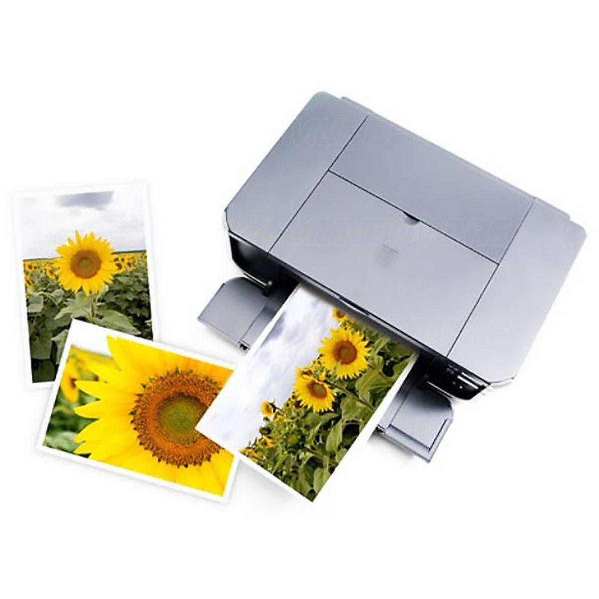 Papel Fotográfico Adesivo 80g A4 Glossy Branco Brilhante Resistente à Água / 20 folhas