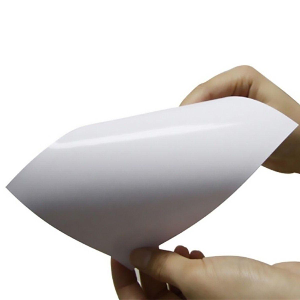 Papel Fotográfico Adesivo Glossy A4 130g Branco Brilhante Resistente à Água / 200 folhas