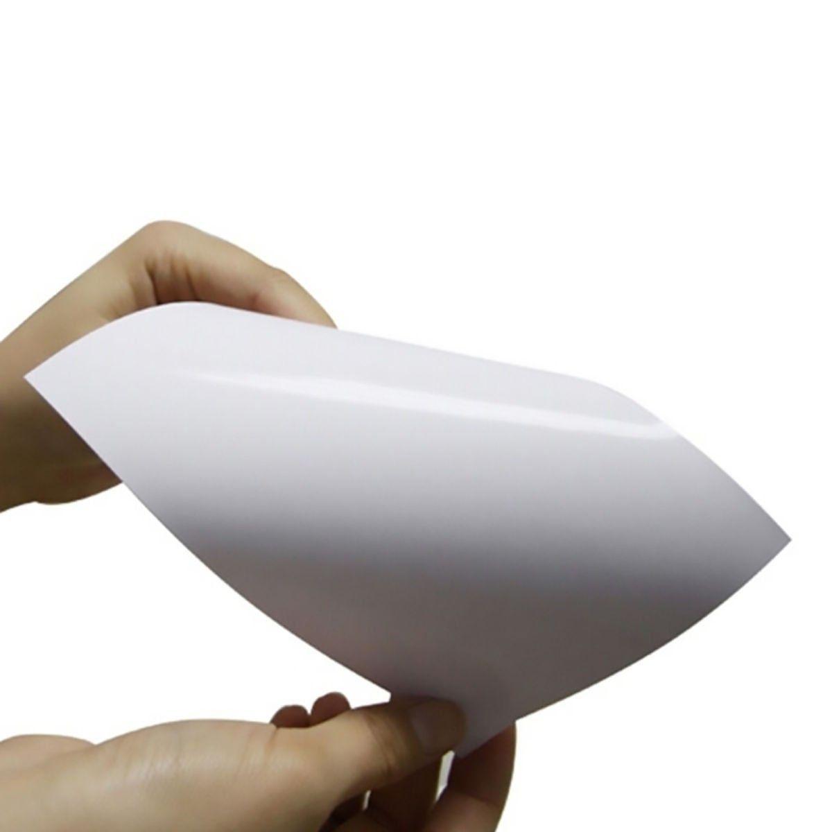 Papel Fotográfico Adesivo Glossy A4 130g Branco Brilhante Resistente à Água / 300 folhas