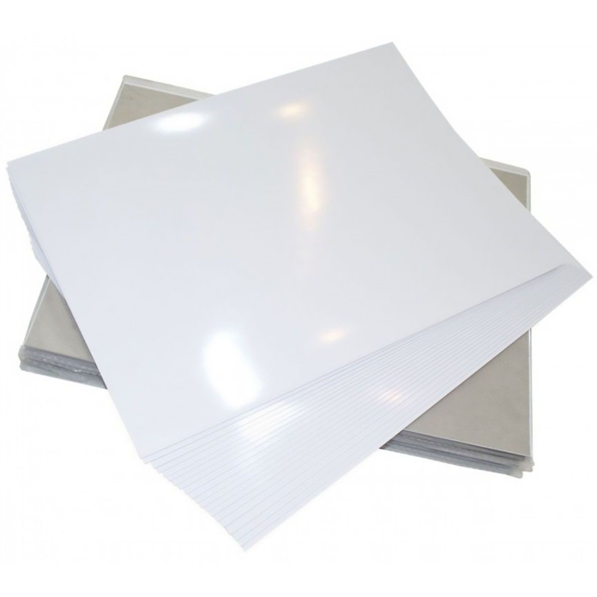 Papel Dupla Face Fotográfico 180g Glossy A4 Branco Brilhante Resistente à Água / 20 folhas