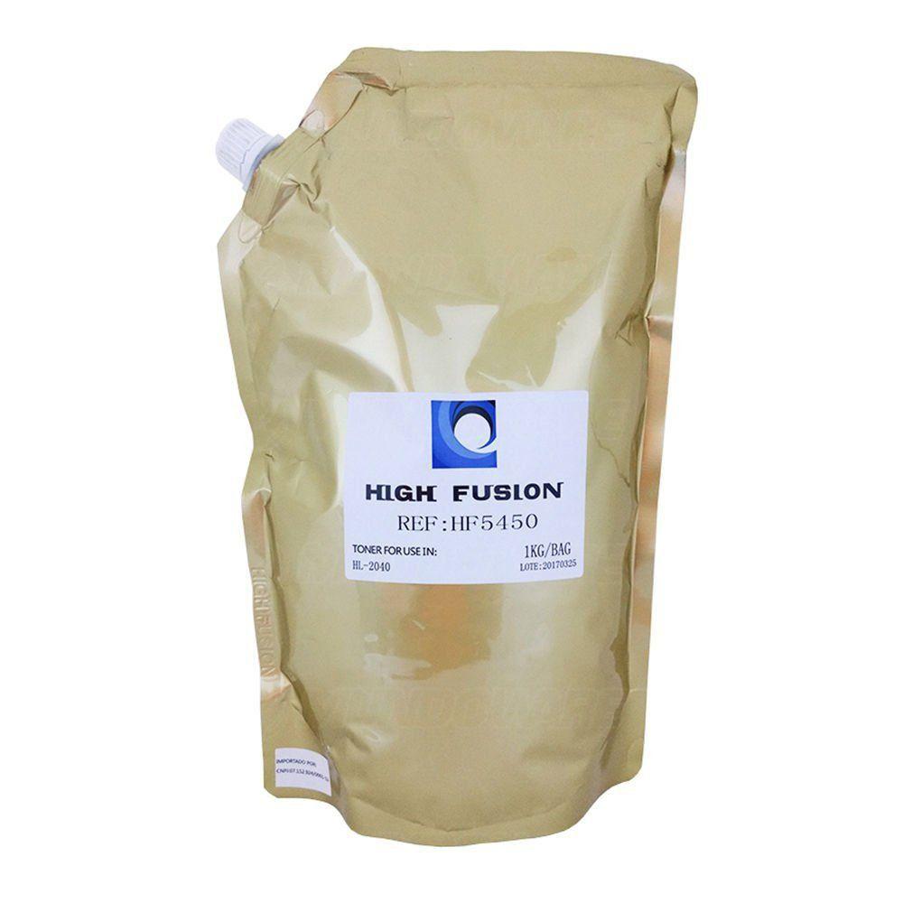Pó de Toner High Fusion HF6450 HF5450 compatível para Brother TN1000 TN1060 TN450 TN650 TN750 TN780 / Preto / Bag 1 kg