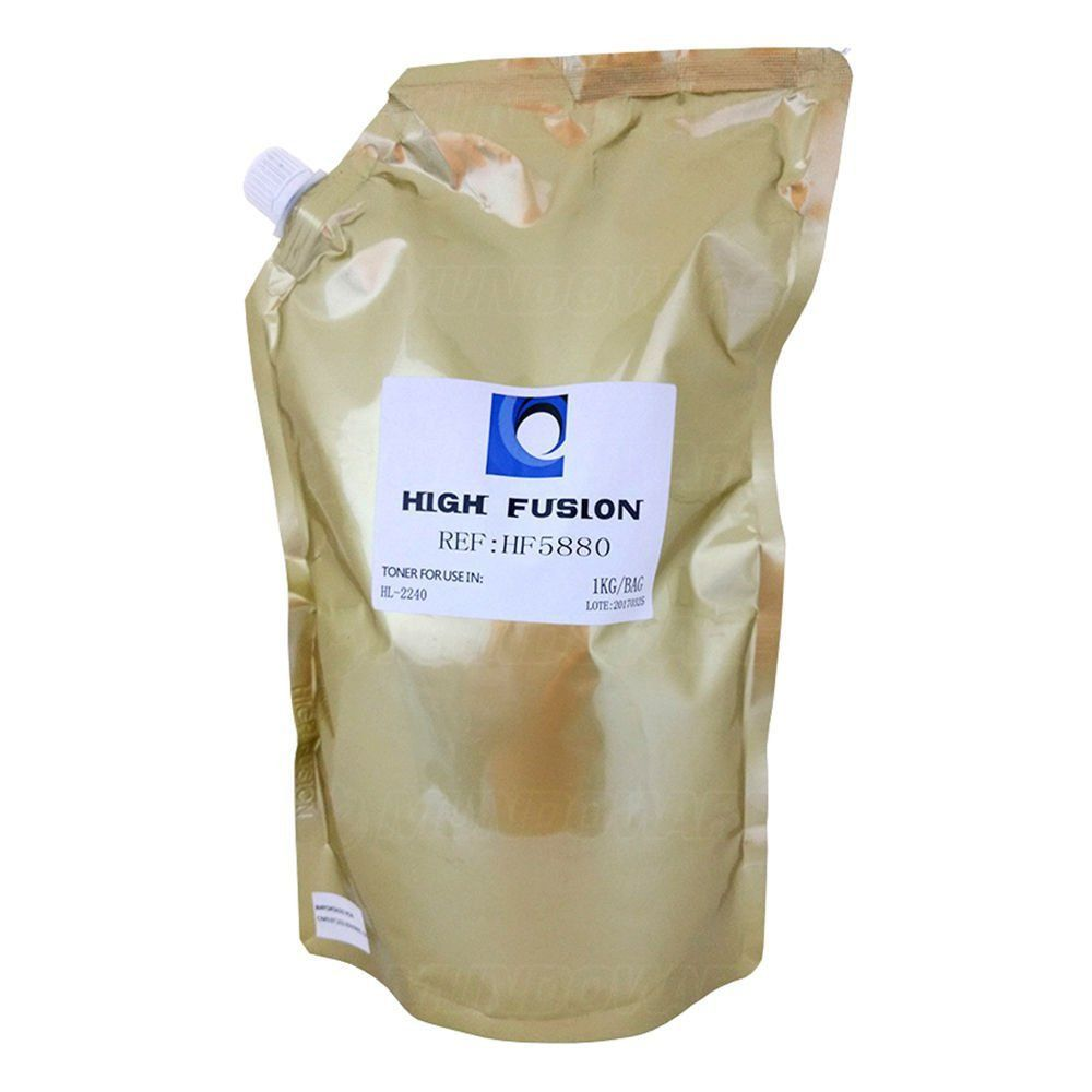 Pó de Toner High Fusion HF6880 HF5880 compatível para Brother TN2340 TN2370 TN3442 TN3472 TN3492 / Preto / Bag 1 kg