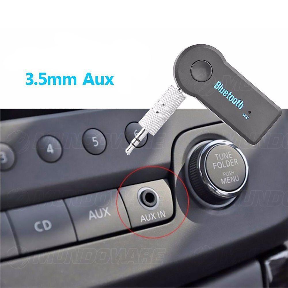 Receptor Bluetooth com Entrada Auxiliar P2 Áudio Estéreo para Transmissão Automotiva