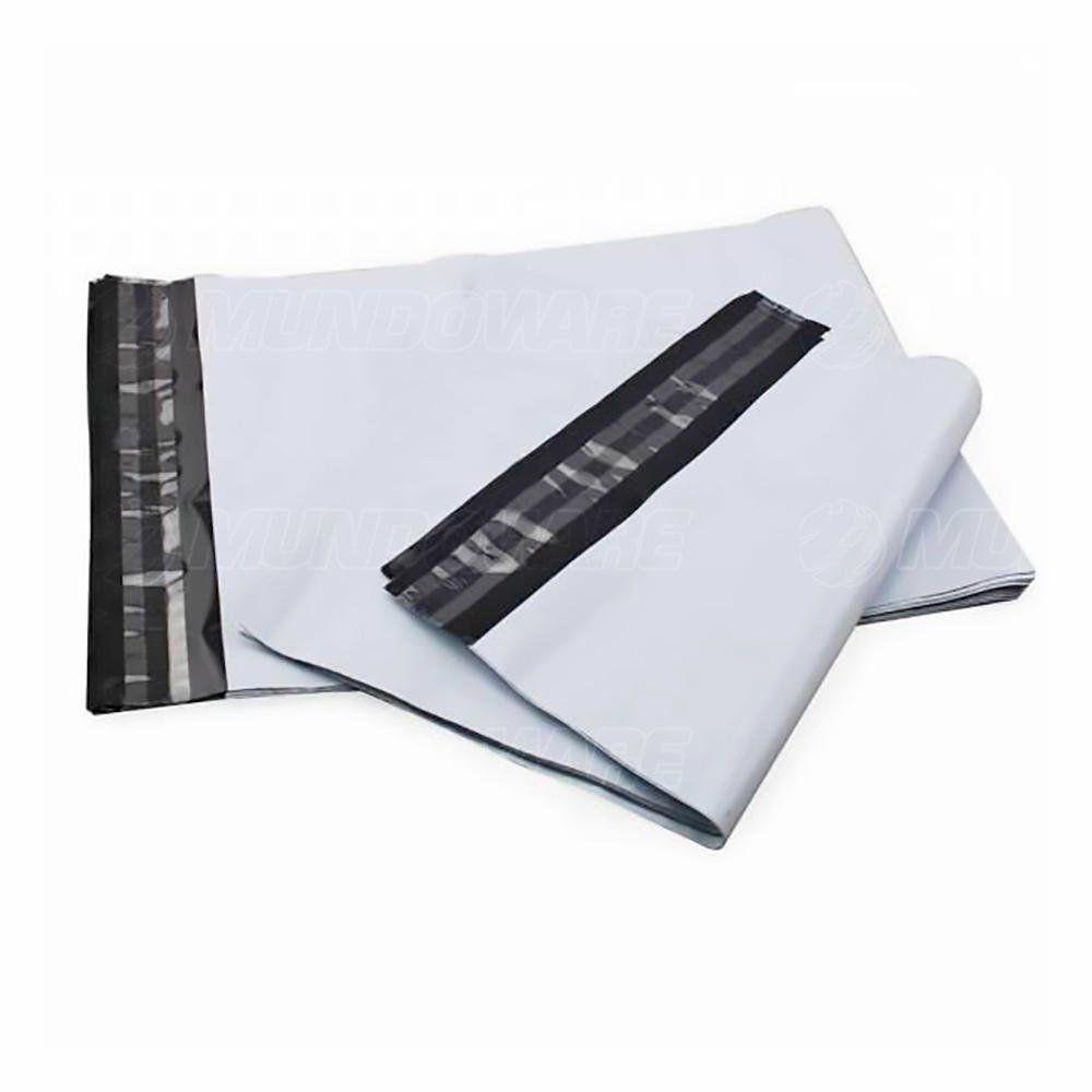 Saco Plástico Tipo Correio Sedex com Lacre de Segurança Inviolável 17x30 cm Branco para Loja Virtual / 100 unidades
