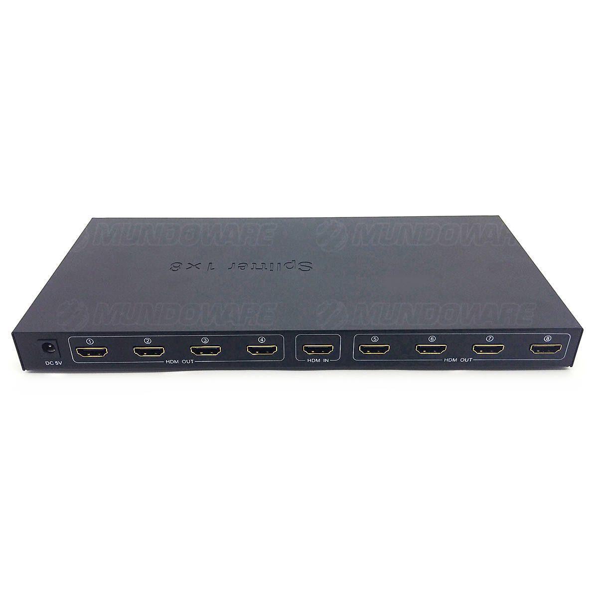Splitter HDMI Divisor 1 Entrada x 8 Saídas 1080P 3D Versão 1.4 1578