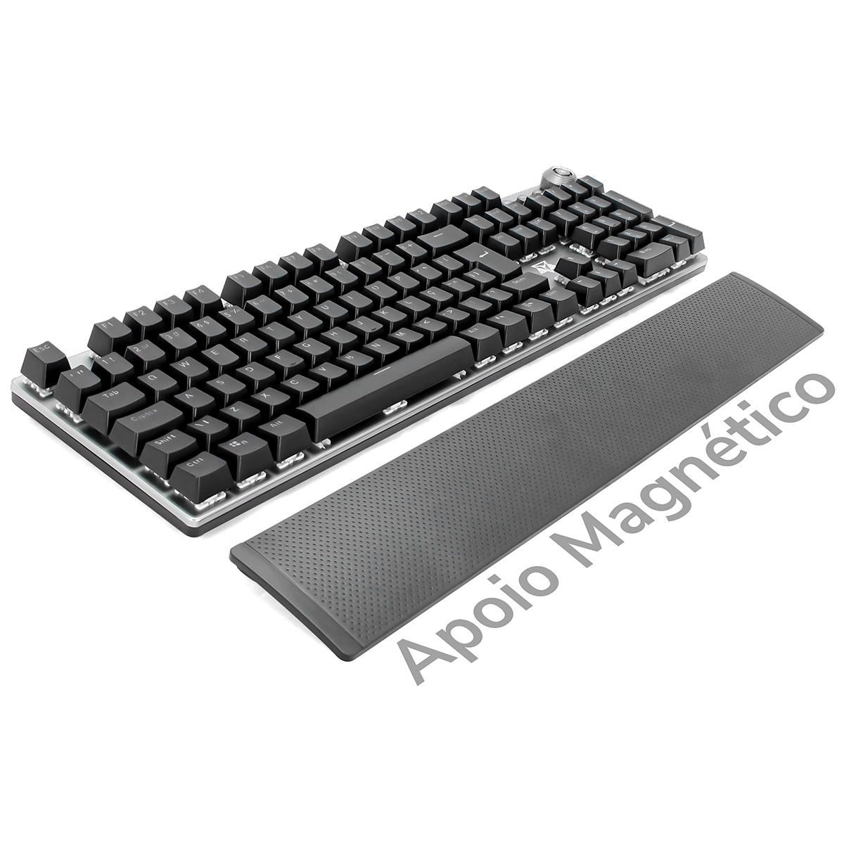 Teclado Mecânico Switch Red KRGD Full Anti-Ghosting Macro e Software Modo Gamer LED ABNT2 Adamantiun Karambit AK-2000V