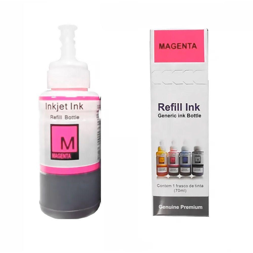 Compatível: Tinta Corante Laserteck para Epson L355 L365 L375 L495 L555 L565 L664 L805 / Magenta / Refil 70ml