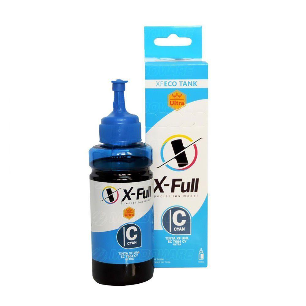 Compatível: Tinta Corante X-Full Ultra para Epson Ecotank L200 L365 L375 L395 L475 L565 L800 L3110 / Ciano / 100ml