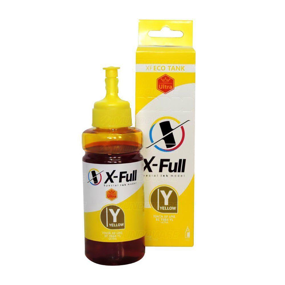 Compatível: Tinta Corante X-Full Ultra para Epson Ecotank L355 L365 L375 L395 L495 L565 L810 L1300 / Amarelo / 100ml
