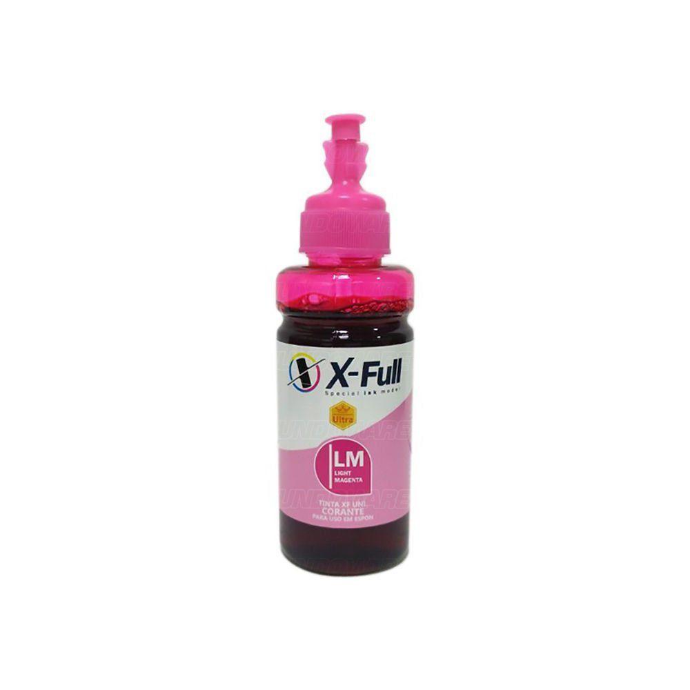 Compatível: Tinta Corante X-Full Ultra para Impressora Epson Ecotank L800 L805 L810 L850 L1800 / Magenta Light / 100ml