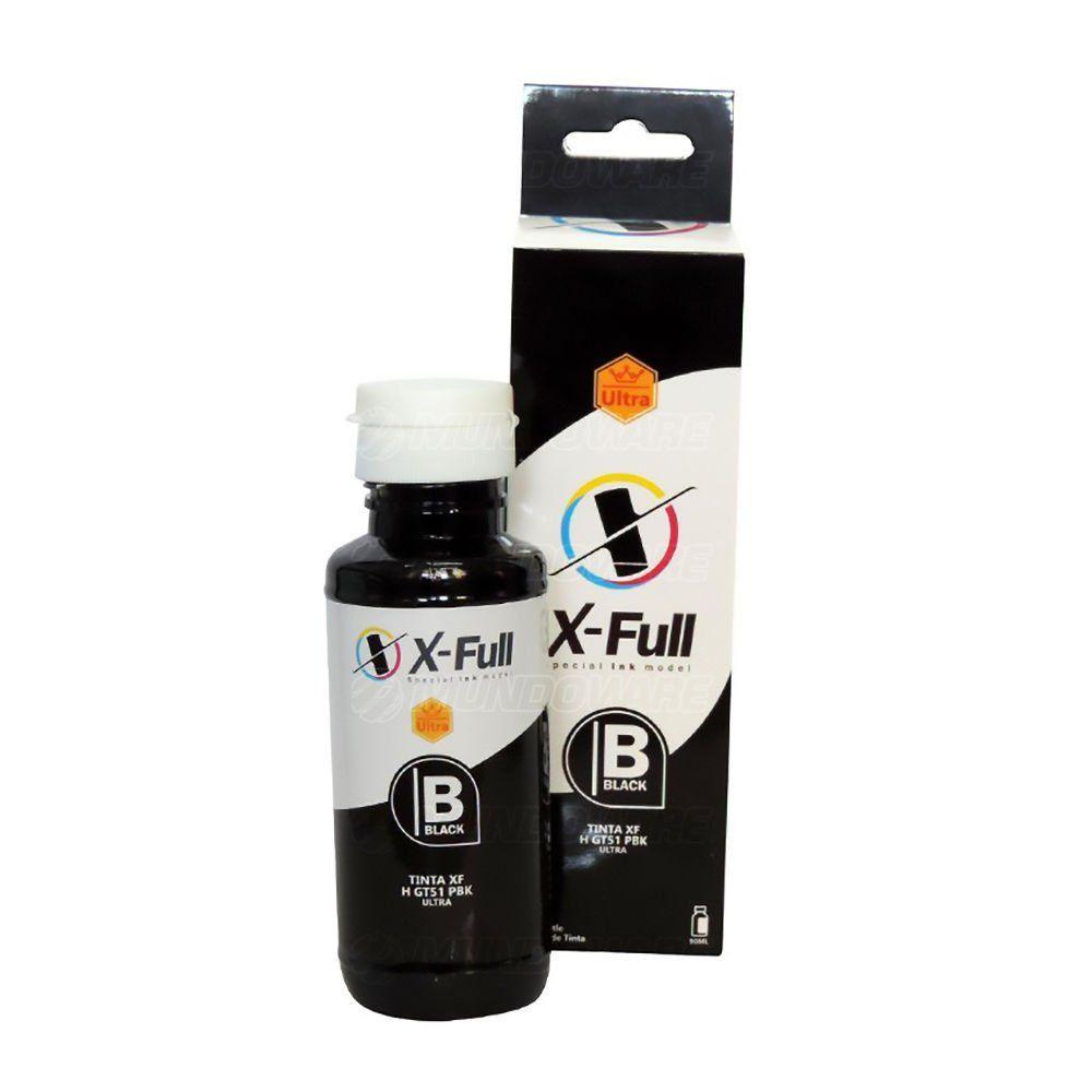 Compatível: Tinta Pigmentada X-Full Ultra para HP série GT GT5822 GT5810 GT5820 Tank 316 5820 5822 5810 / Preto / 90ml