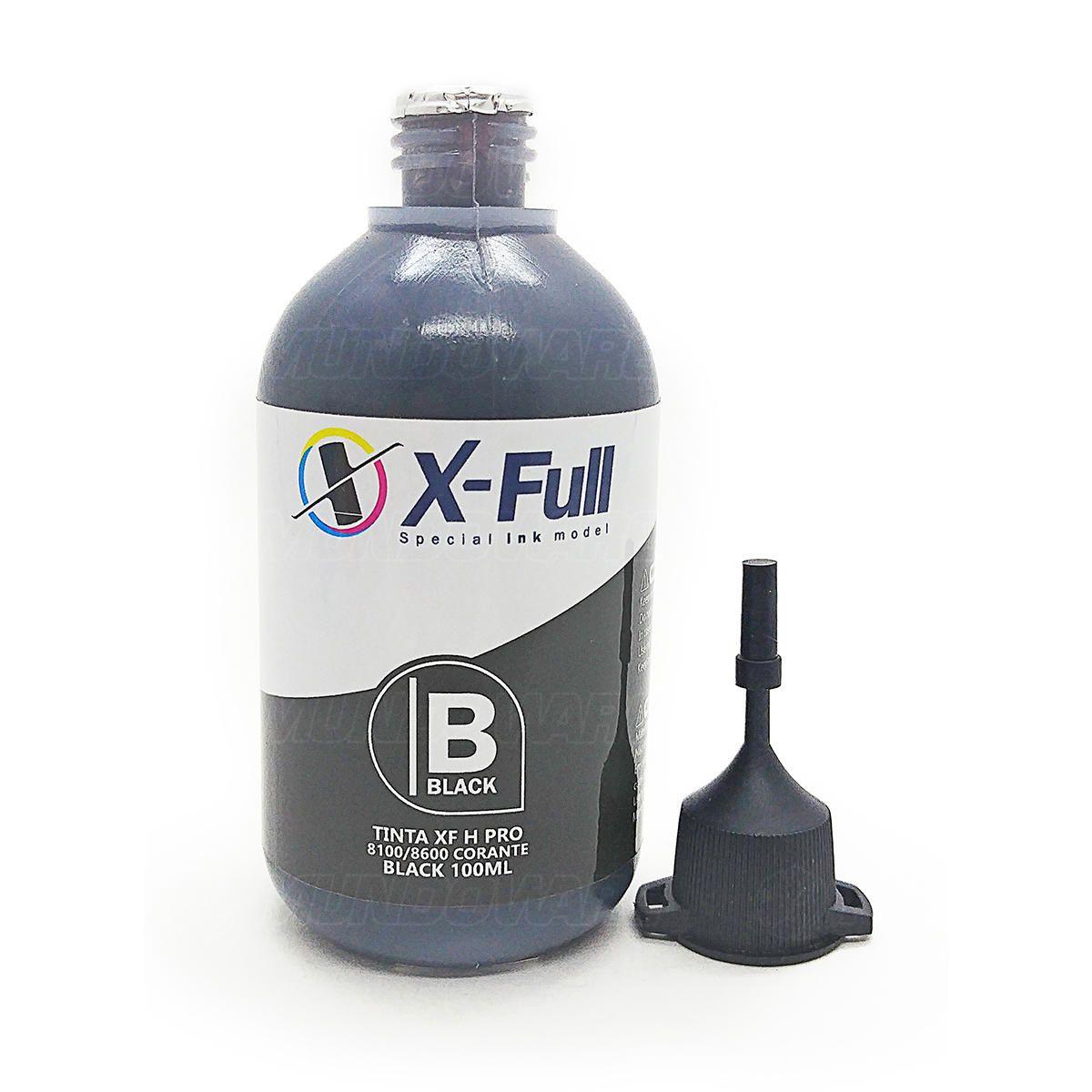 Compatível: Tinta Corante X-Full para HP X576dw X551dw X476dw X451dw 8600w 8600 8500 8100 8000 X476 X576 / Preto / 100ml
