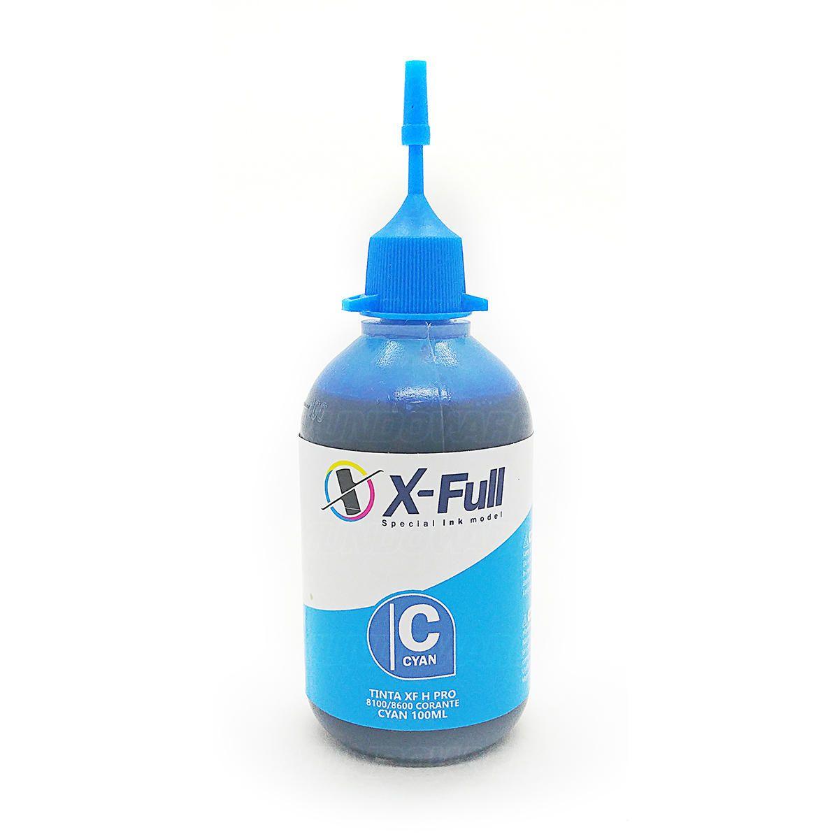 Compatível: Tinta Corante X-Full para HP 8600w 8600 8500 8100 8000 X576dw X551dw X476dw X451dw X451 / Ciano / 100ml