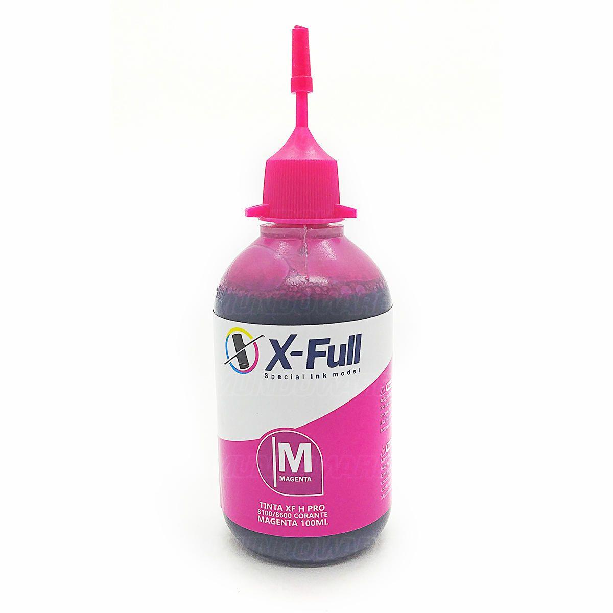 Compatível: Tinta Corante X-Full para HP 8600 8600w 8500 8100 8000 X576dw X551dw X476dw X451dw / Magenta / 100ml