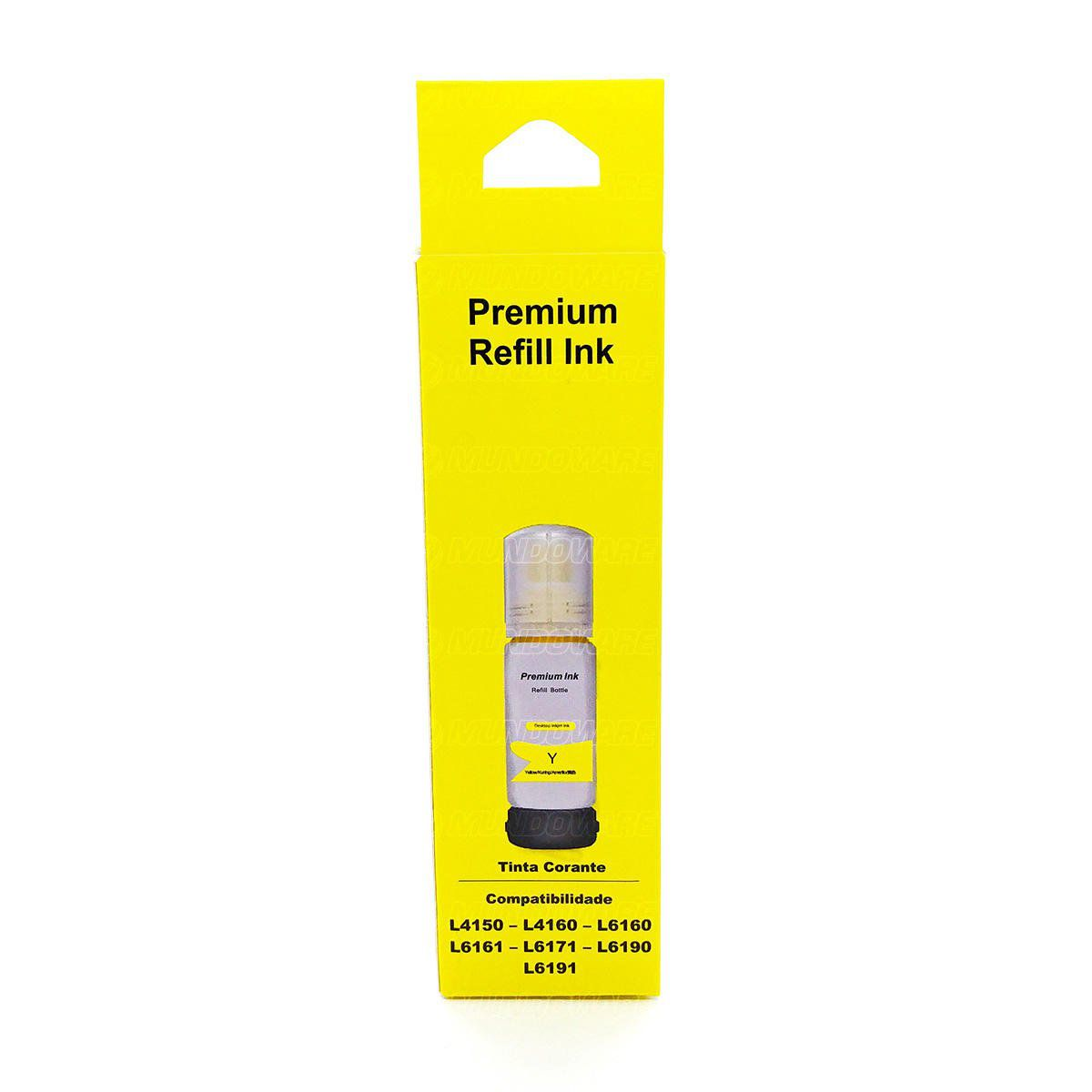 Compatível: Tinta Corante Laserteck para Epson L4150 L4160 L6160 L6161 L6171 L6190 L6191 4150 6171 / Amarelo / 70ml