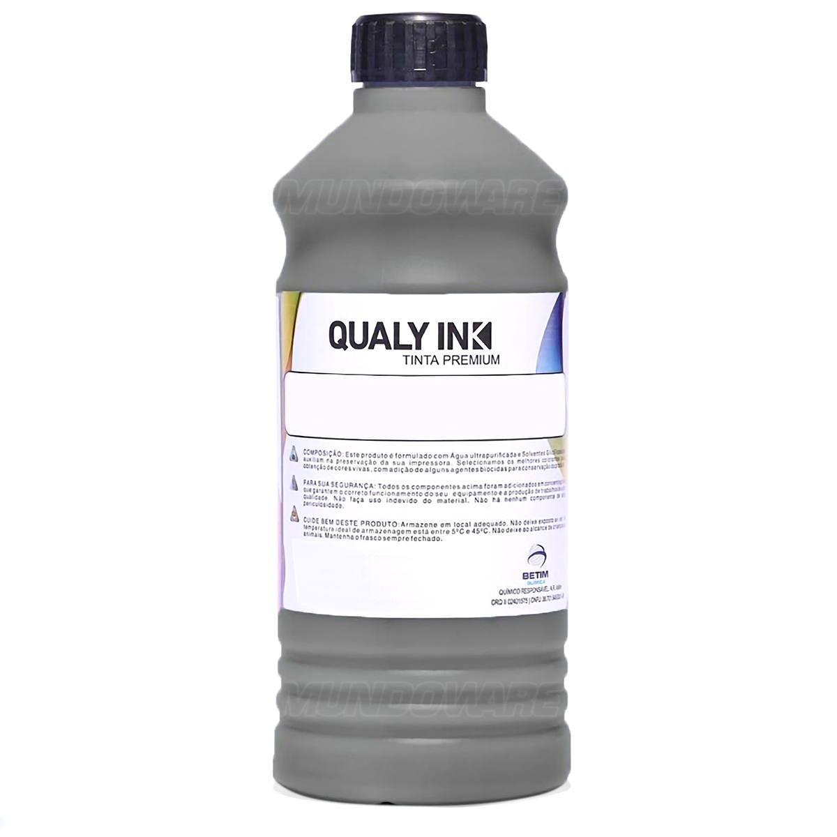 Tinta Corante Qualy-Ink para Impressora Brother MFC-J6710dw J6520dw J6720dw J6920dw 6490cw 6890cdw Preto Refil 1L