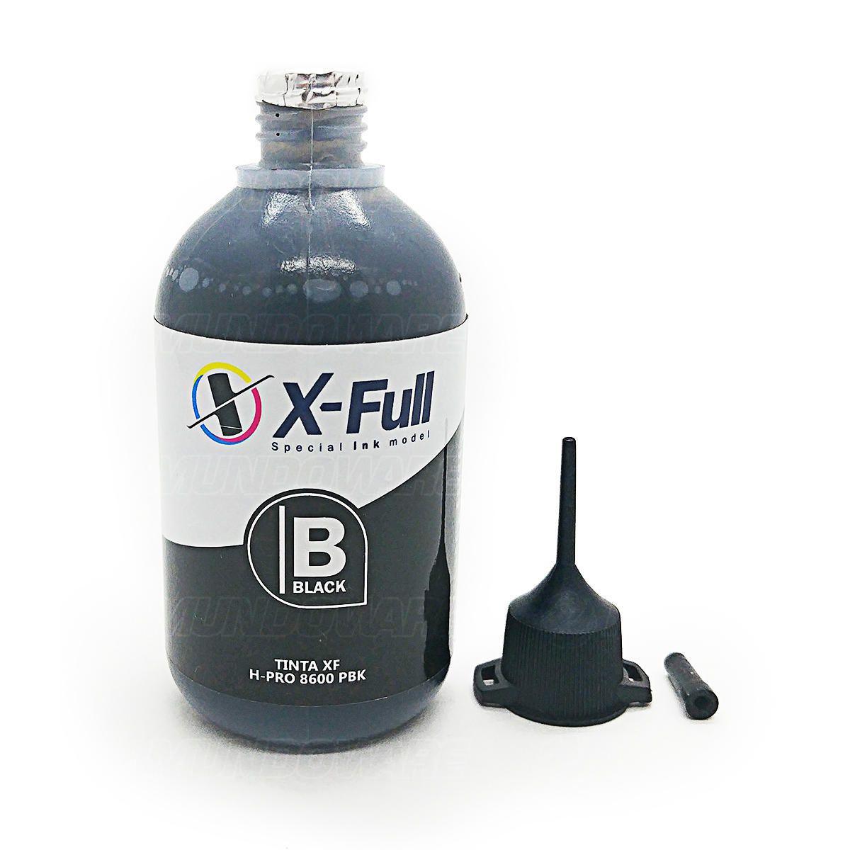 Compatível: Tinta Pigmentada X-Full para HP 8000 8100 8500 8600 8600w X451dw X551dw X476dw X576dw / Preto / 100ml