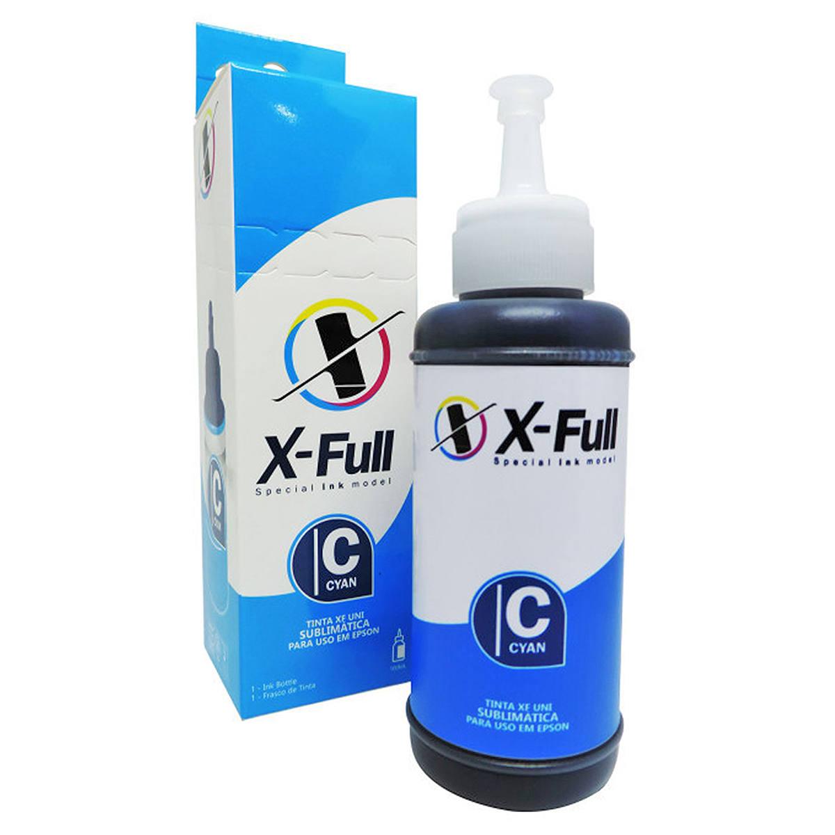 Tinta Sublimática X-Full para uso em todas as Impressoras Epson L Series 664 / Ciano / Refil 100ml